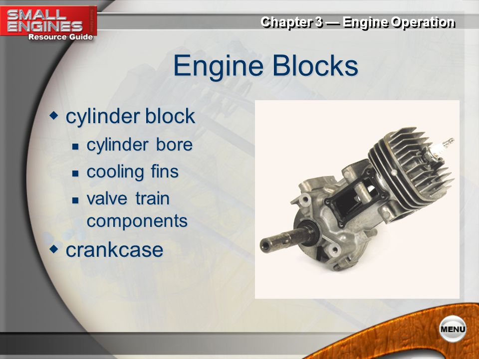 Engine Blocks cylinder block crankcase cylinder bore cooling fins