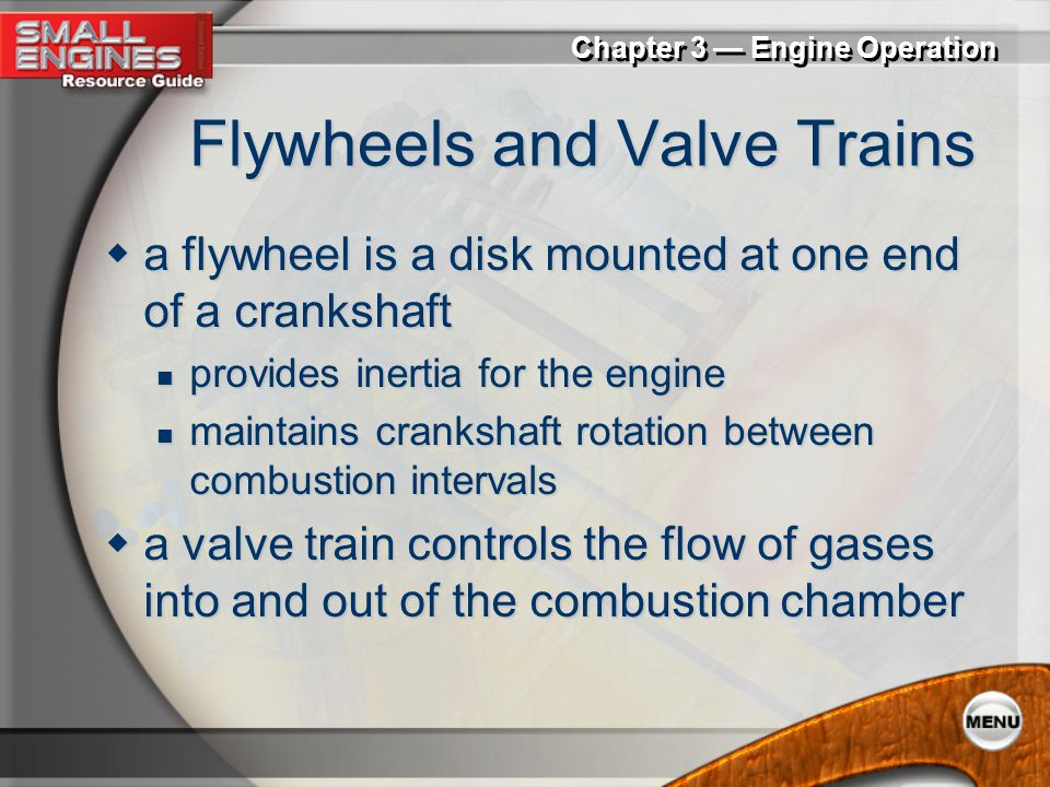 Flywheels and Valve Trains