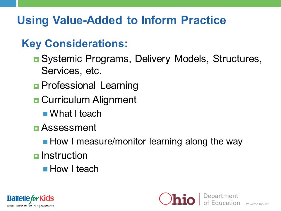 Using Value-Added to Inform Practice