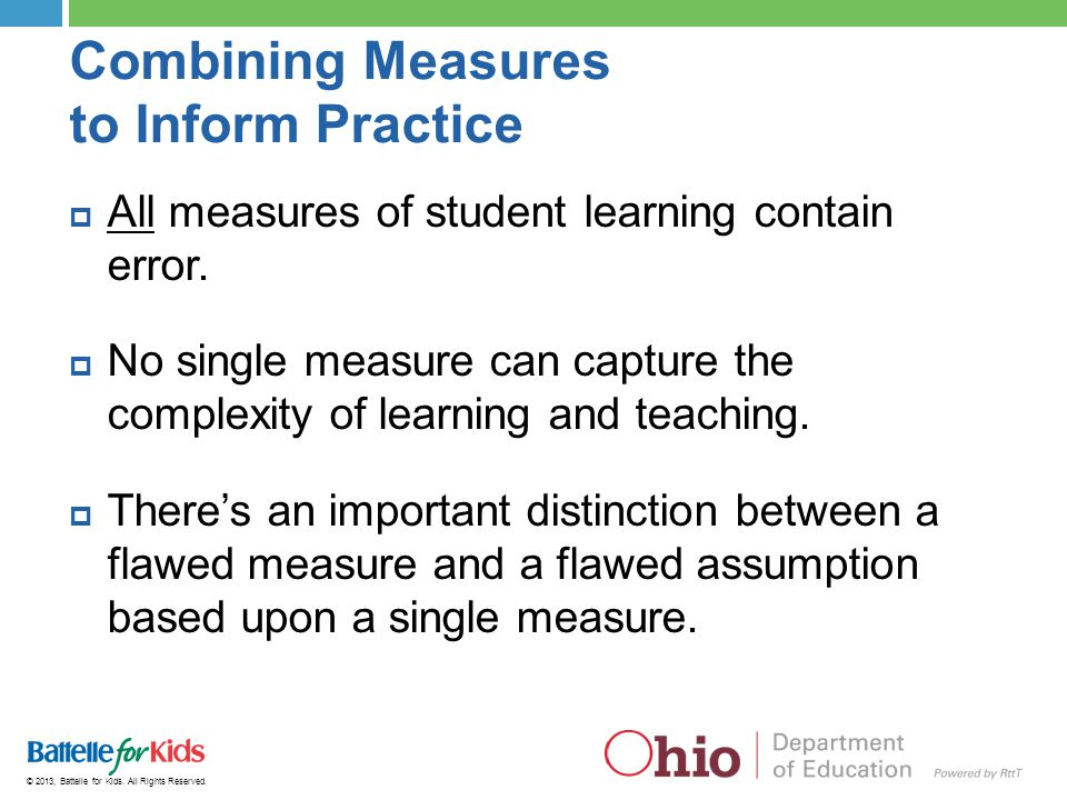 Combining Measures to Inform Practice