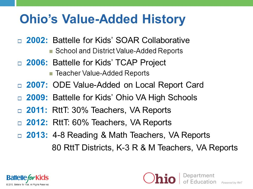 Ohio's Value-Added History