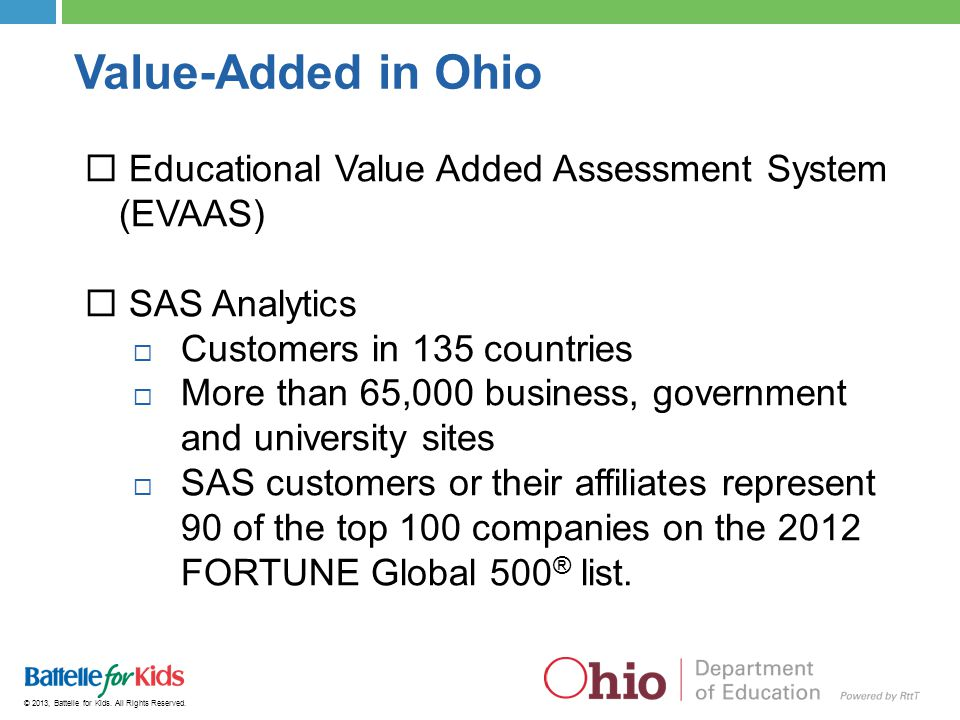 Value-Added in Ohio Educational Value Added Assessment System (EVAAS)