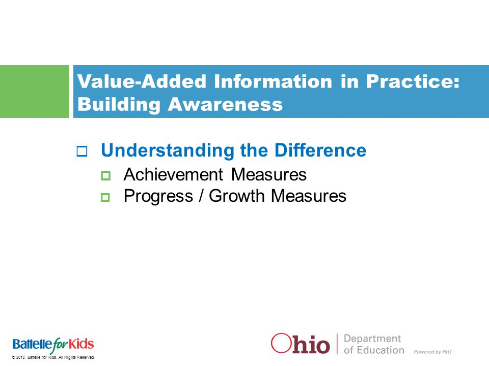 Value-Added Information in Practice: Building Awareness