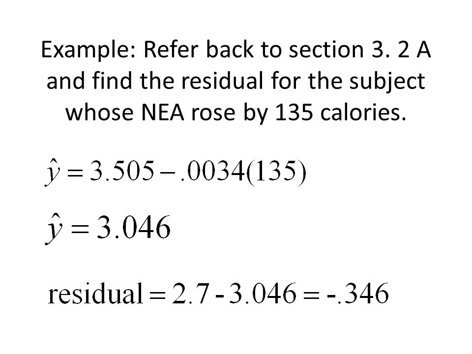 Example: Refer back to section 3