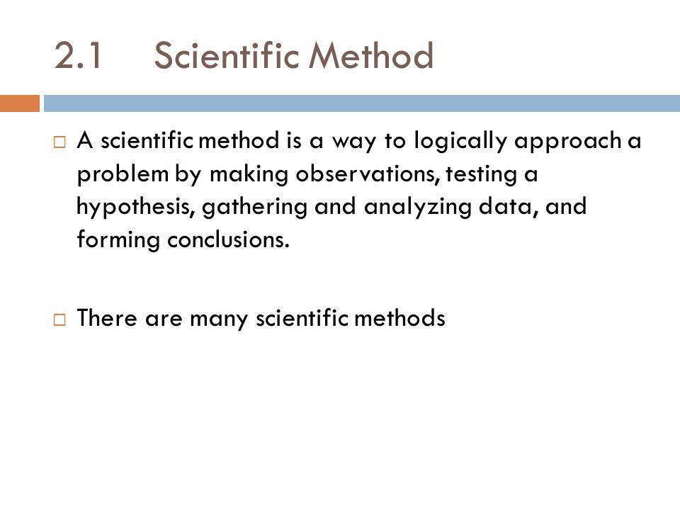 2.1 Scientific Method