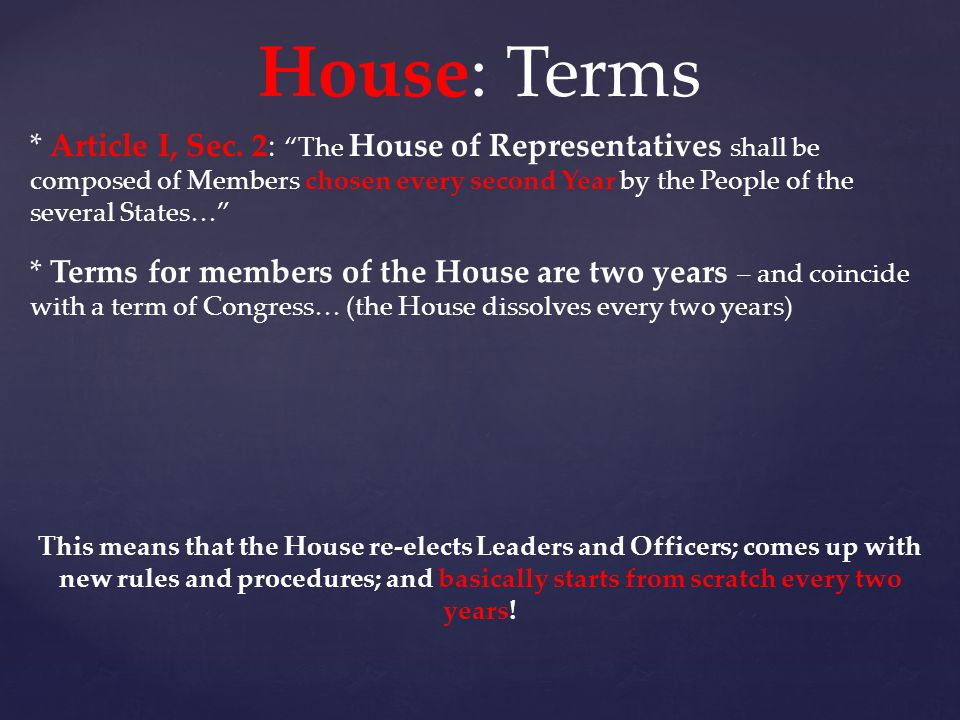 House: Terms
