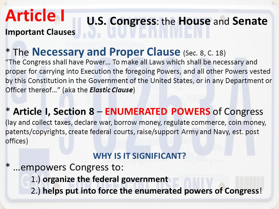 an overview of the congress of the united states Use this summary of the united states constitution to learn about article 1 of the constitution this is the first of five articles dealing with study of the us constitution.