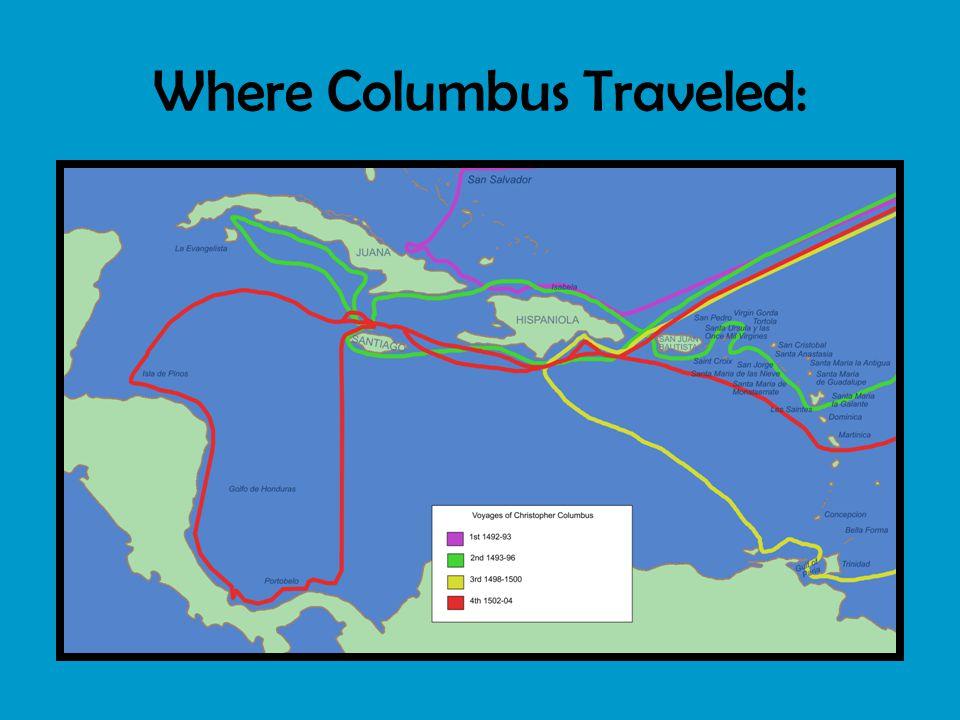 Where Columbus Traveled: