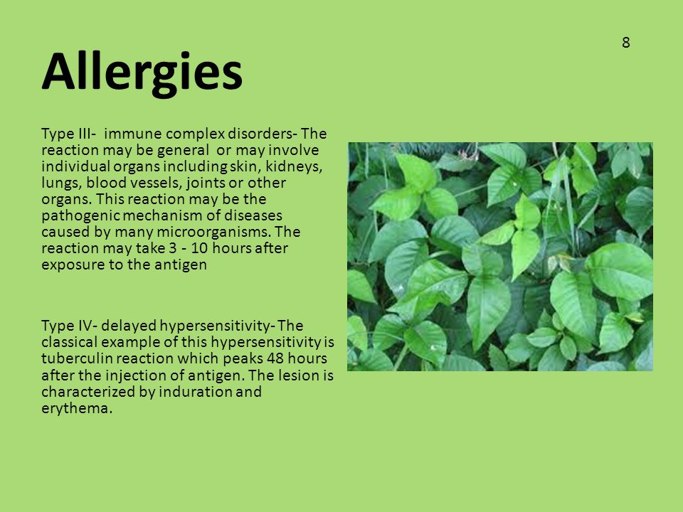Allergies 8.