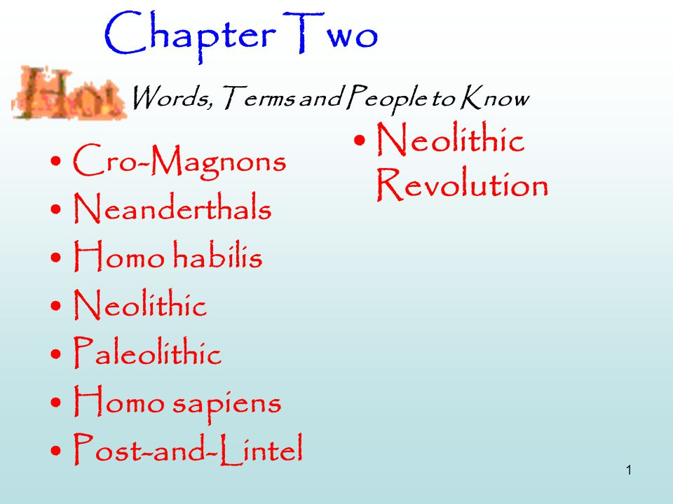 Chapter Two Words, Terms and People to Know