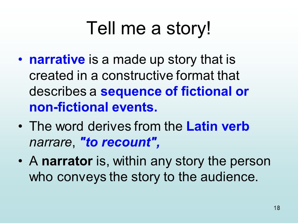Tell me a story!