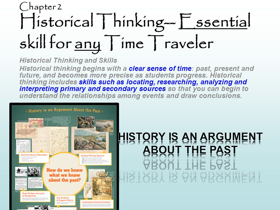 Chapter 2 Historical Thinking-- Essential skill for any Time Traveler