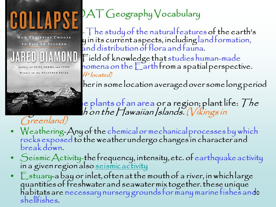 OAT Geography Vocabulary