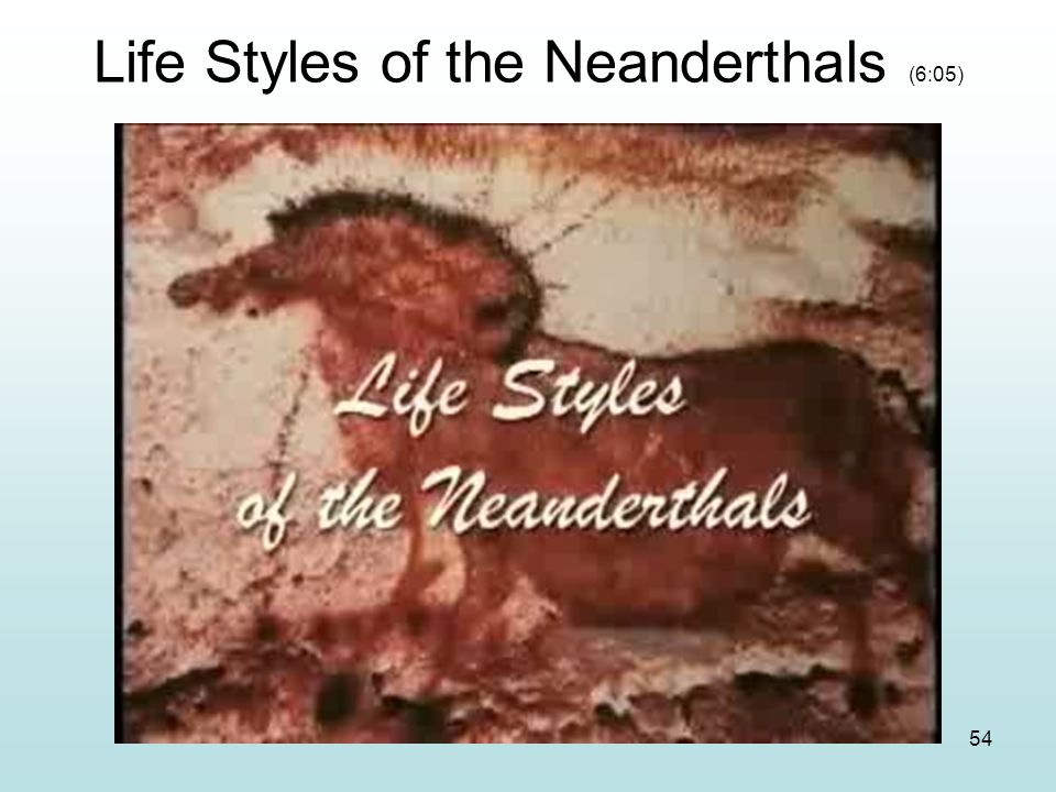 Life Styles of the Neanderthals (6:05)