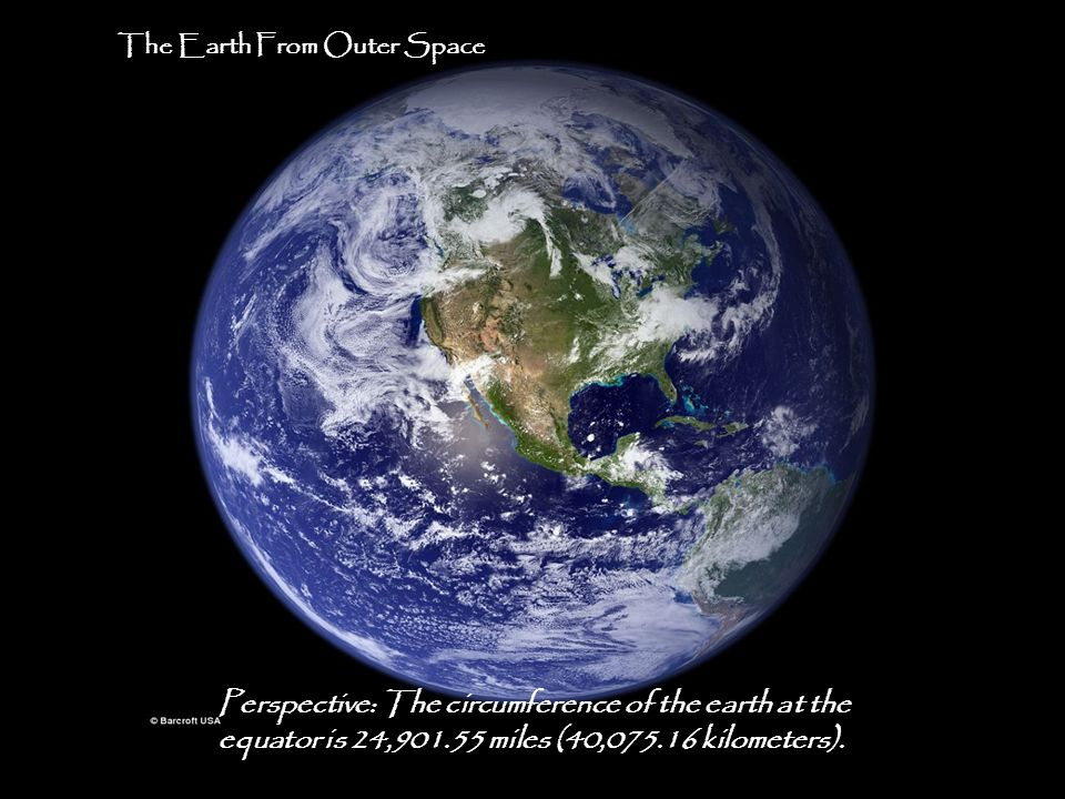 Perspective: The circumference of the earth at the