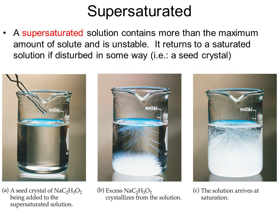 Supersaturated