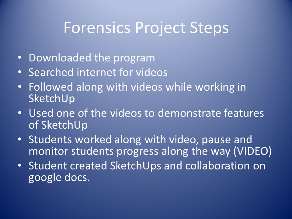 Forensics Project Steps