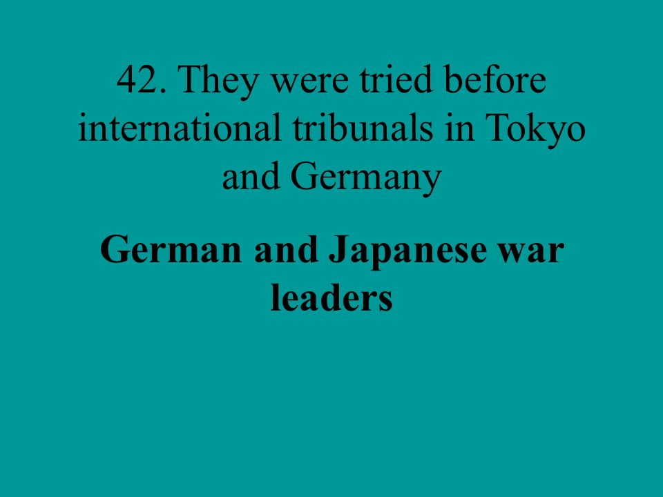 German and Japanese war leaders