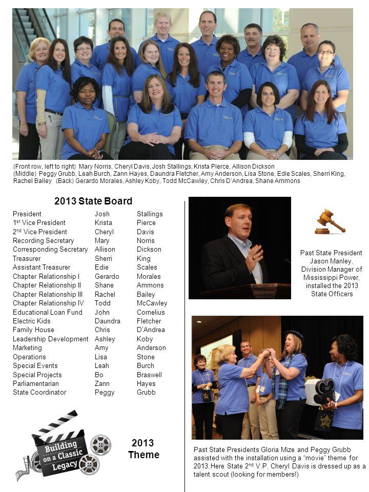 2013 State Board 2013 Theme President Josh Stallings