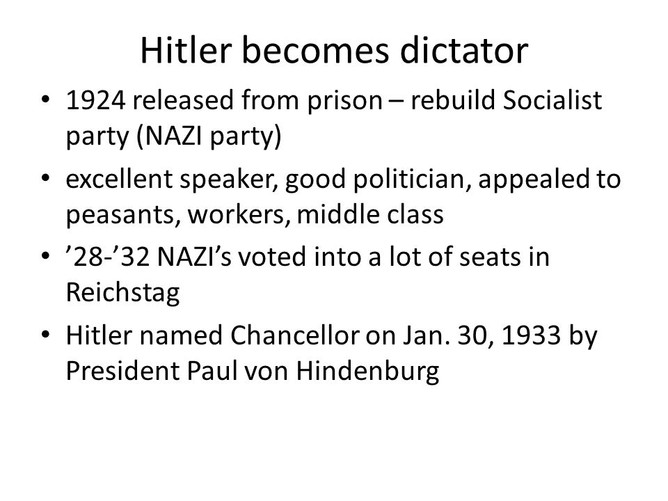Hitler becomes dictator