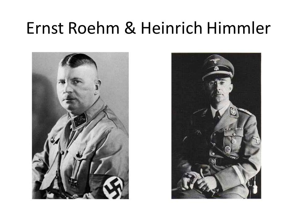 Ernst Roehm & Heinrich Himmler
