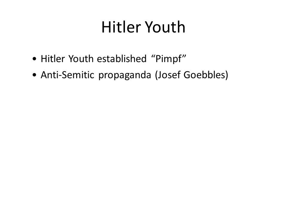 Hitler Youth Hitler Youth established Pimpf