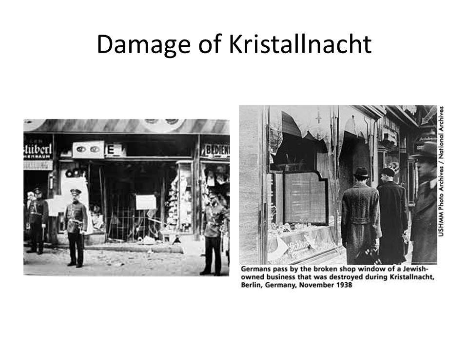Damage of Kristallnacht