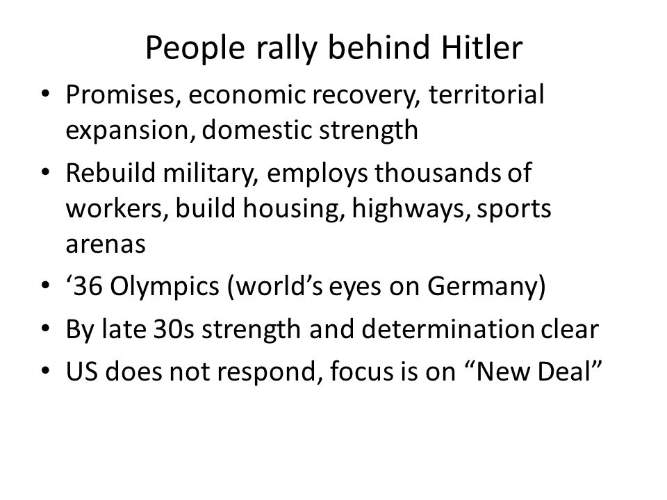 People rally behind Hitler