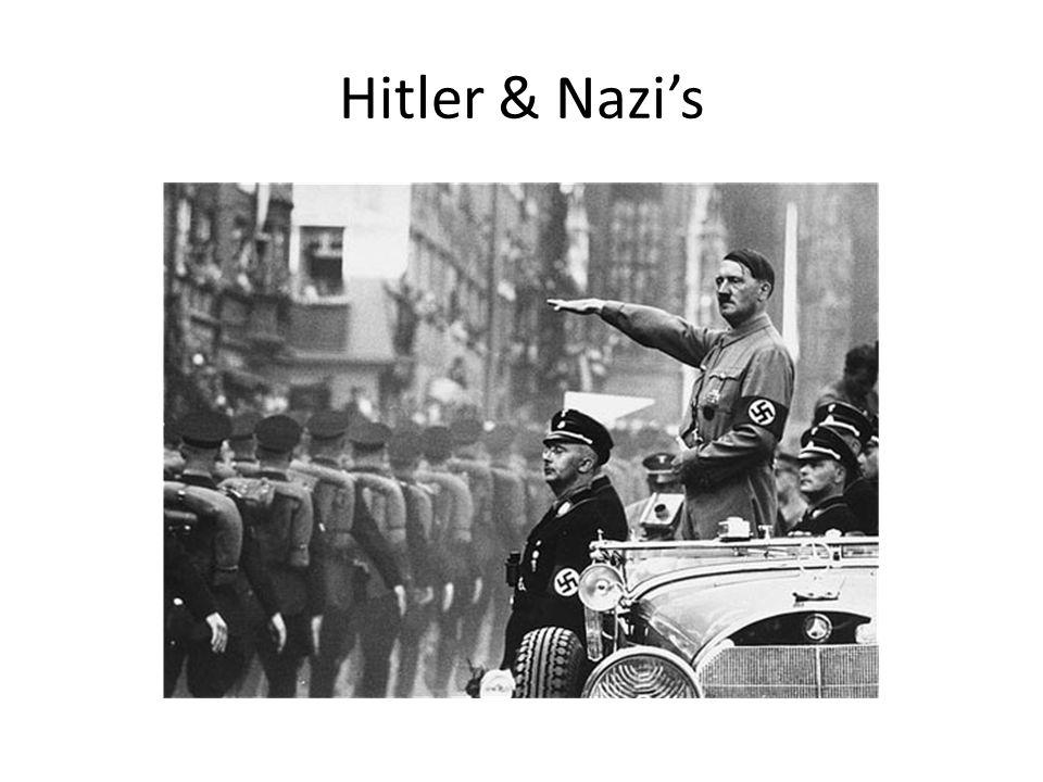 Hitler & Nazi's