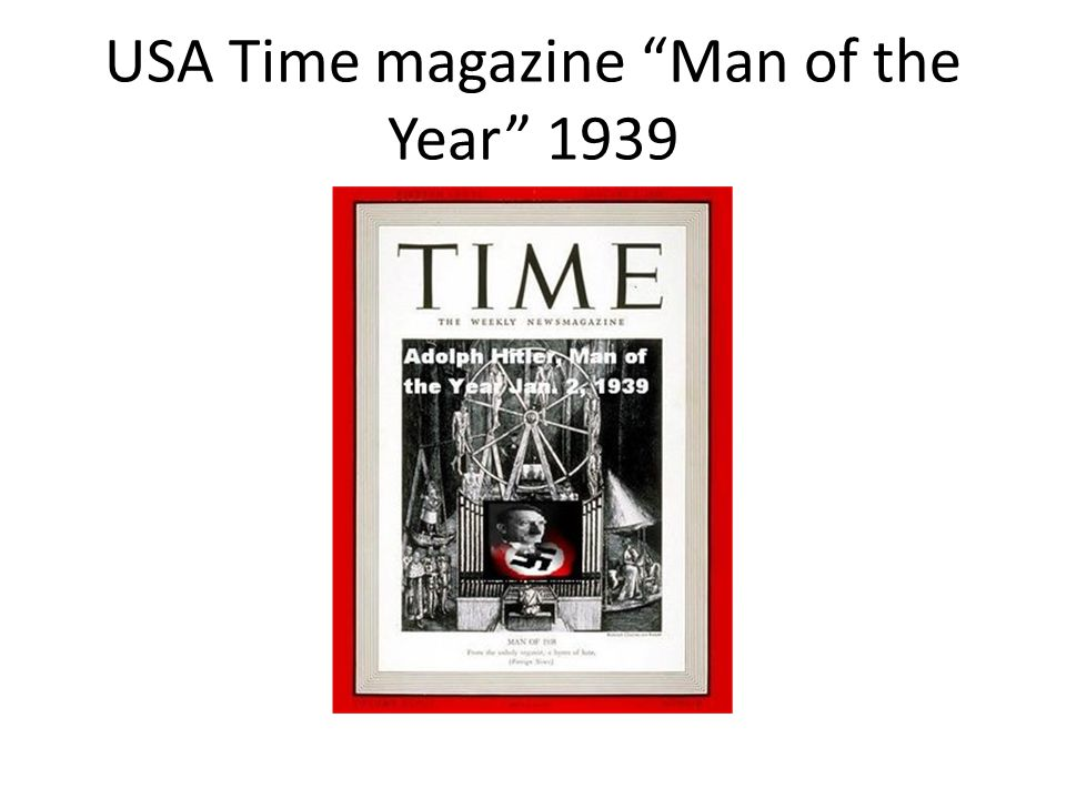 USA Time magazine Man of the Year 1939