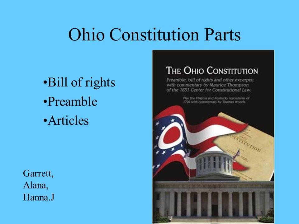 Ohio Constitution Parts