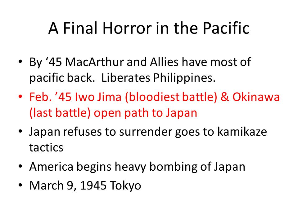 A Final Horror in the Pacific