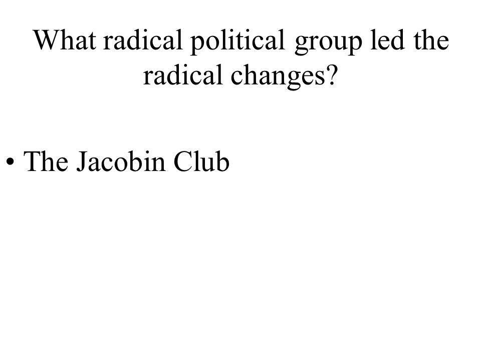 What radical political group led the radical changes