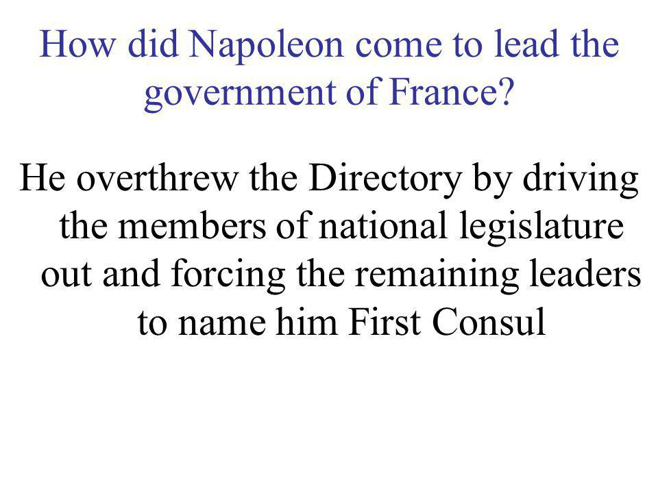 How did Napoleon come to lead the government of France