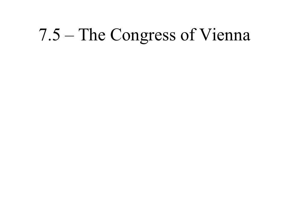 7.5 – The Congress of Vienna