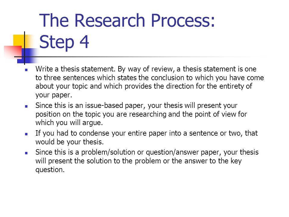 The Research Process: Step 4
