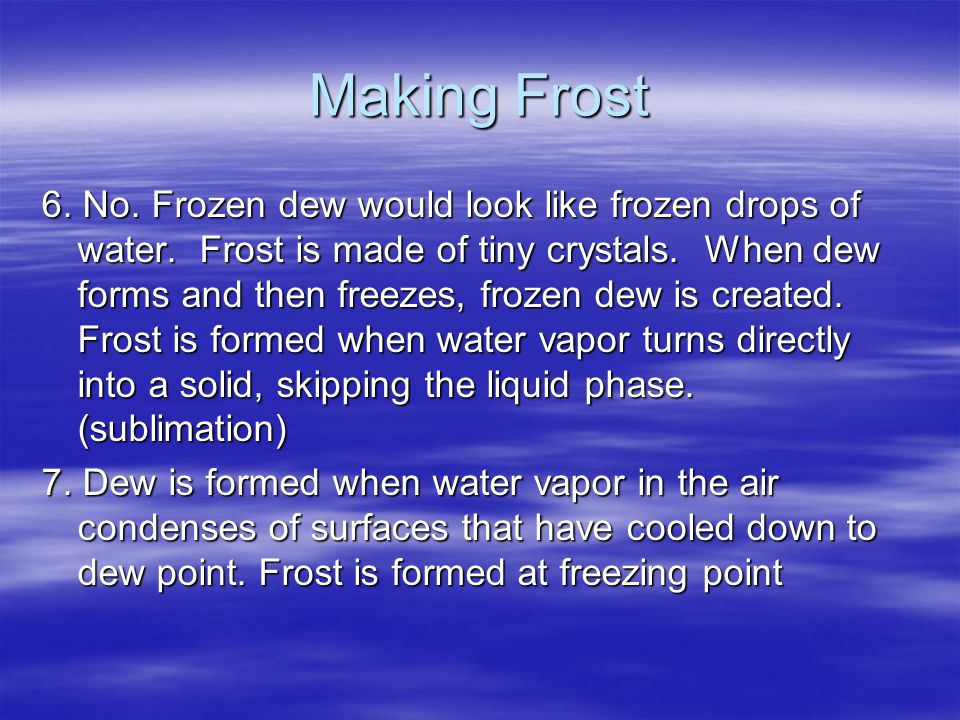 Making Frost