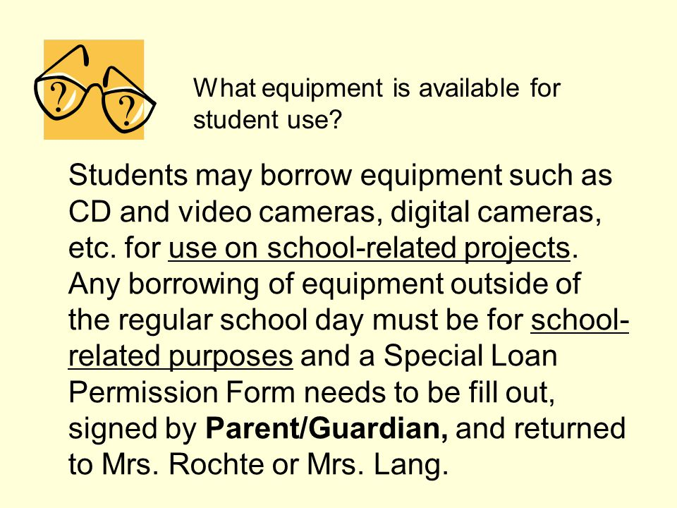 What equipment is available for student use