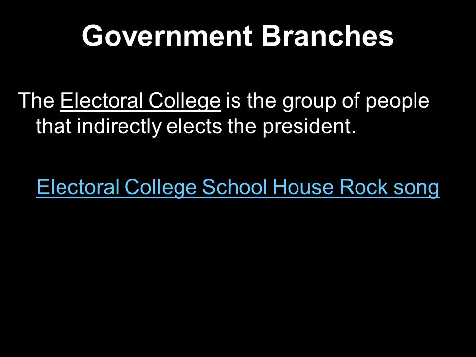 Electoral College School House Rock song