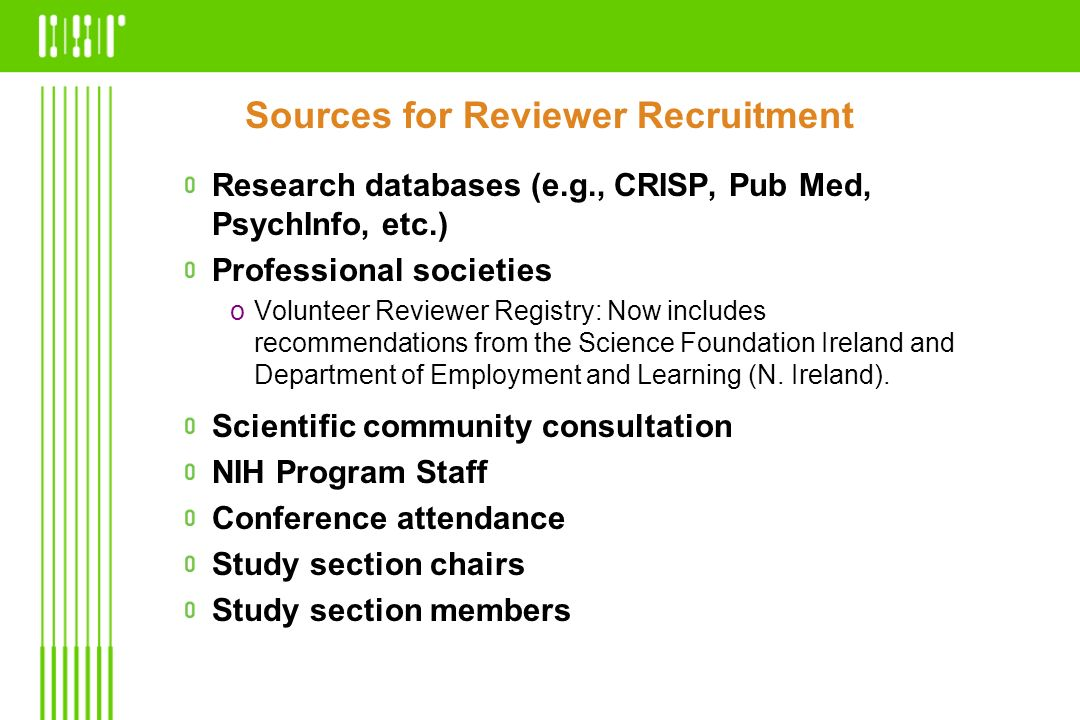 Sources for Reviewer Recruitment