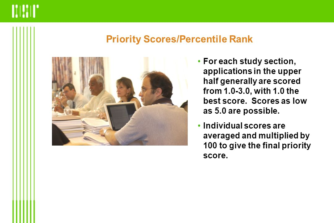 Priority Scores/Percentile Rank