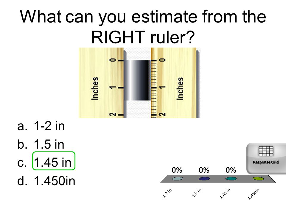 What can you estimate from the RIGHT ruler