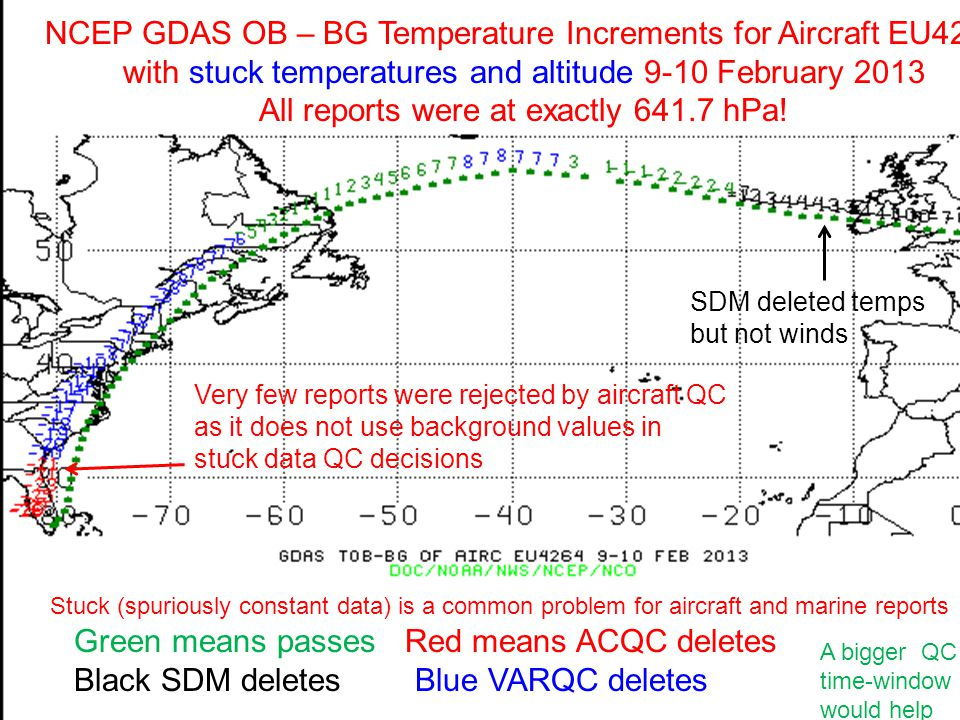 NCEP GDAS OB – BG Temperature Increments for Aircraft EU4264