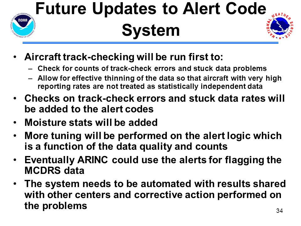 Future Updates to Alert Code System