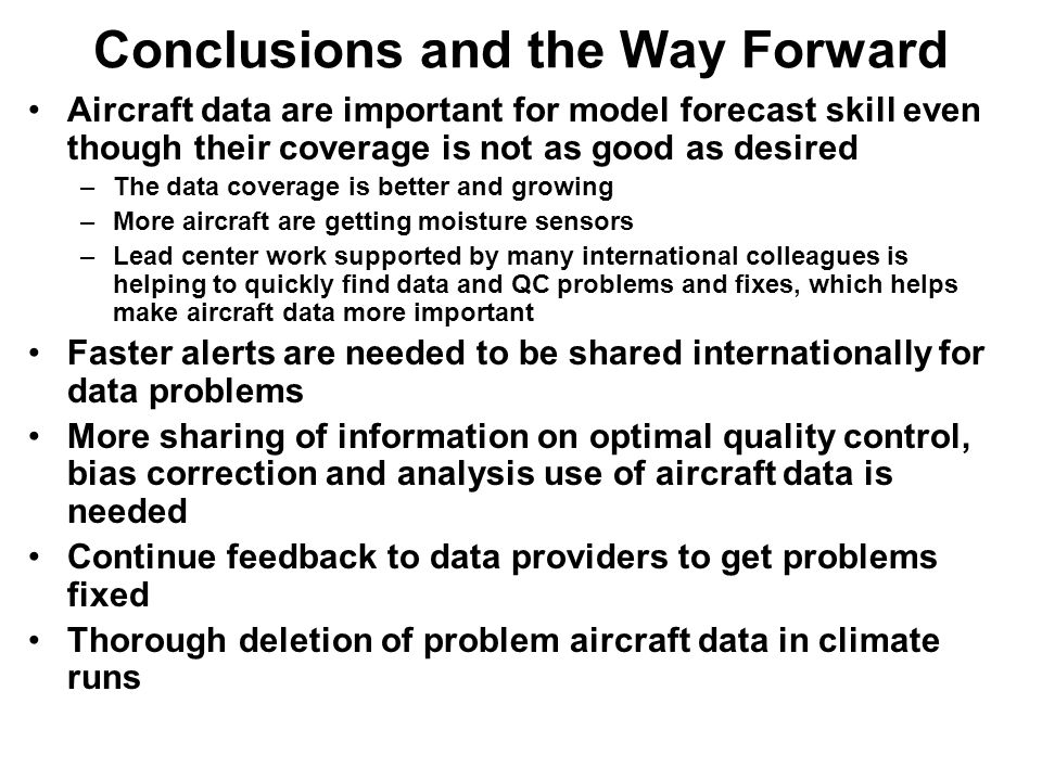 Conclusions and the Way Forward