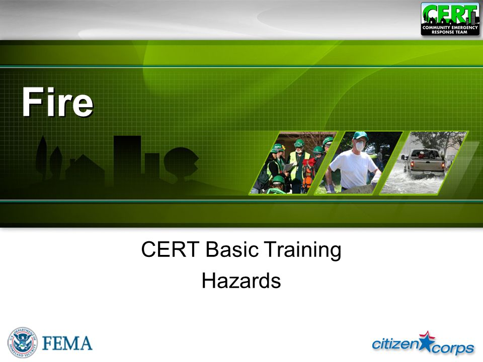 CERT Basic Training Hazards