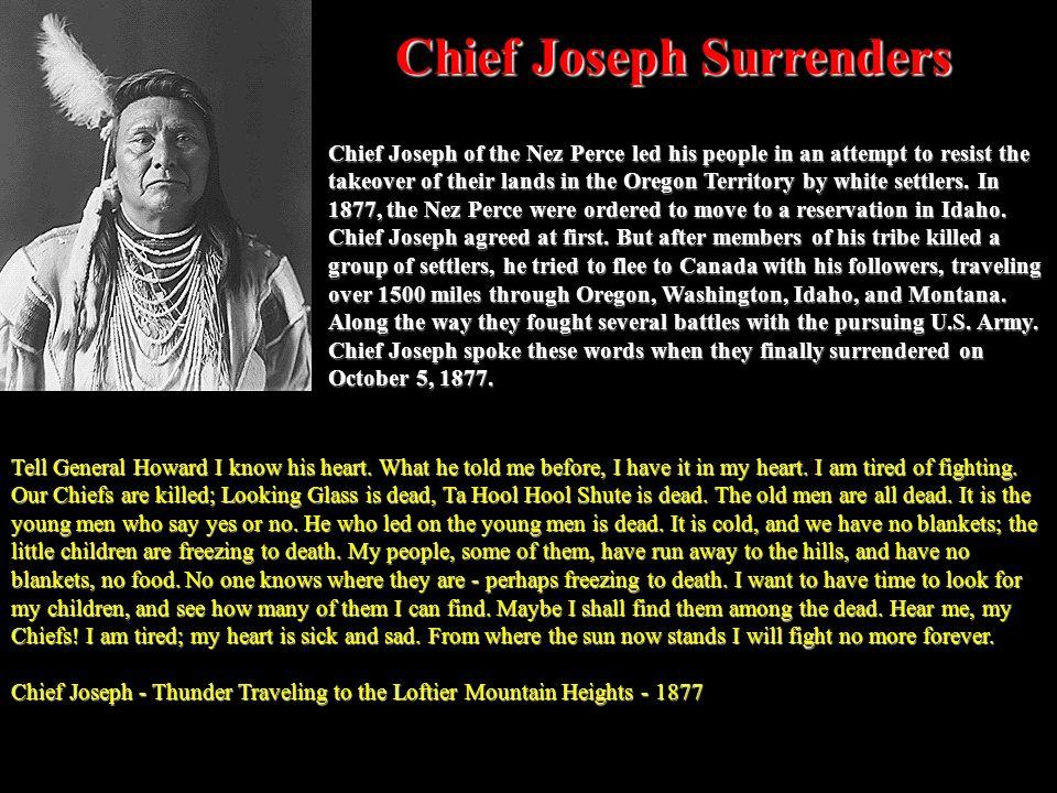 Chief Joseph Surrenders
