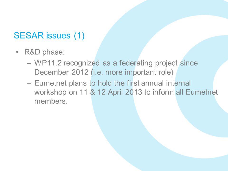 SESAR issues (1) R&D phase: