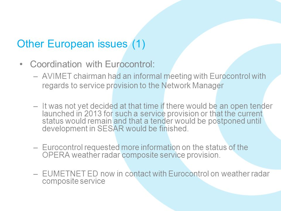 Other European issues (1)
