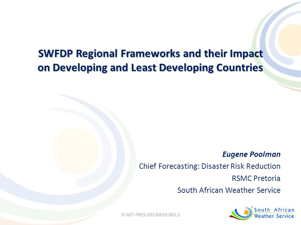 SWFDP Regional Frameworks and their Impact on Developing and Least Developing Countries
